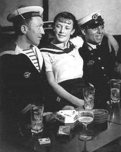 Brassaï -Conchita with Sailors, 1933