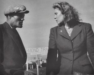 Dorthea Lange - Argument in Trailer Court, 1944