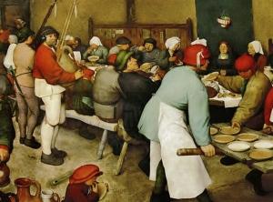 Bruegel, The Wedding Banquet - detail